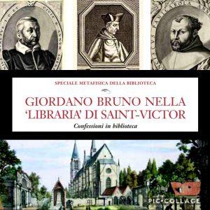 Giordano Bruno nella biblioteca di Saint Victor